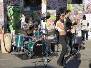 Band playing daytime