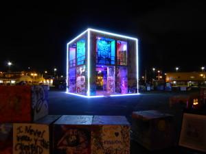 D the Life Cube + Sats at night