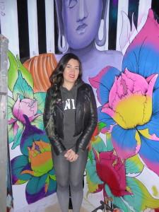 Flower mural artist