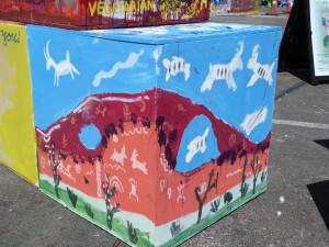 Sat Cube Spirit Animal scene