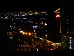 TLC in night cityscape