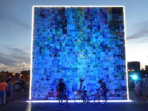 Tap Wall Blue light